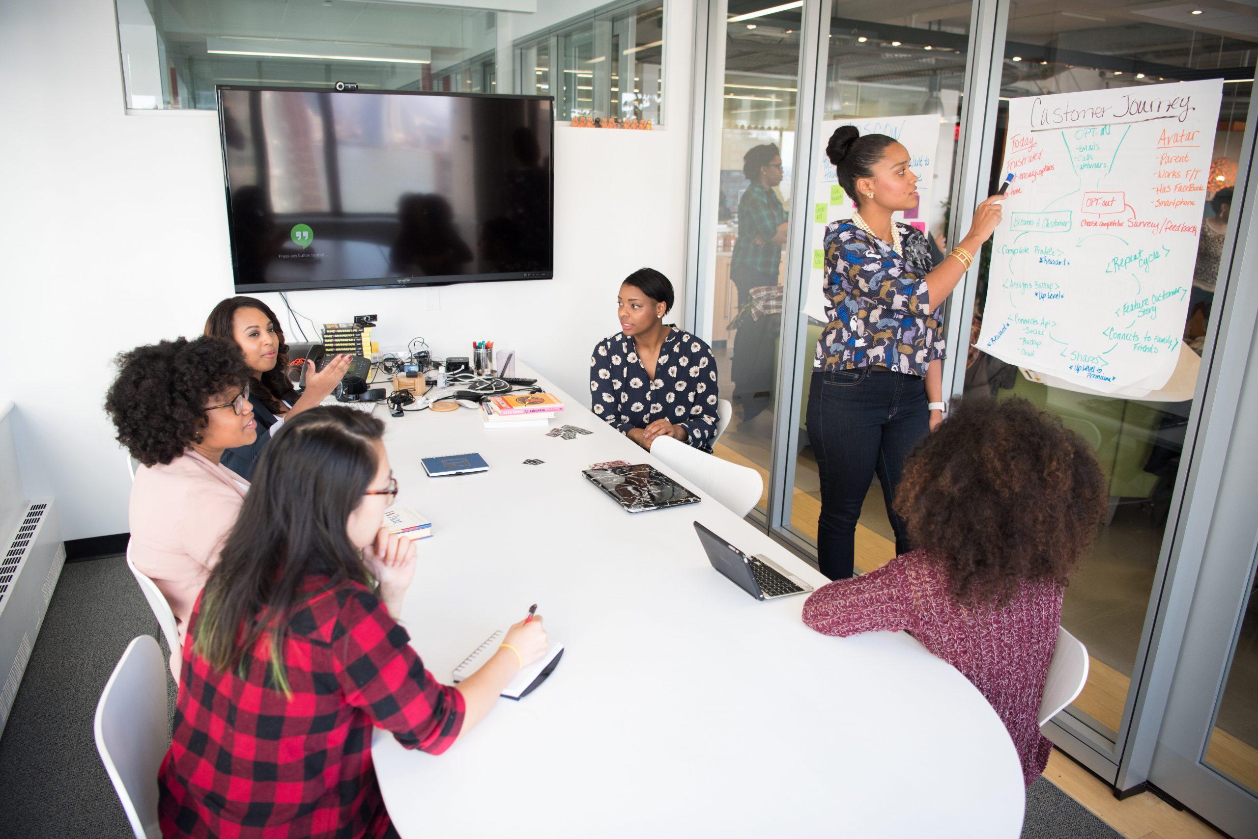 Women in board room