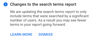 Changes to the Search Terms Report
