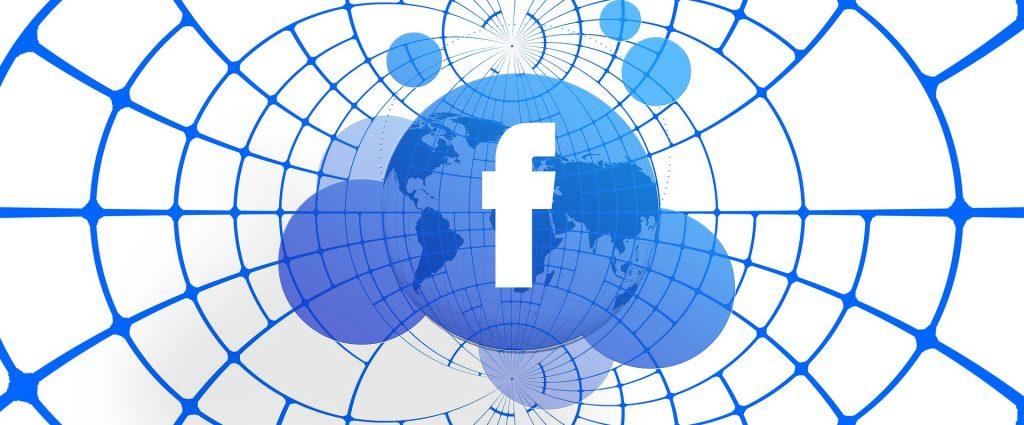 Facebook Logo in a Globe
