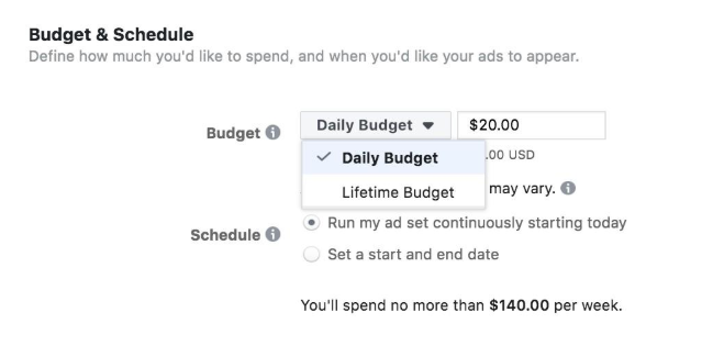 Daily or Lifetime Facebook Ads Budget