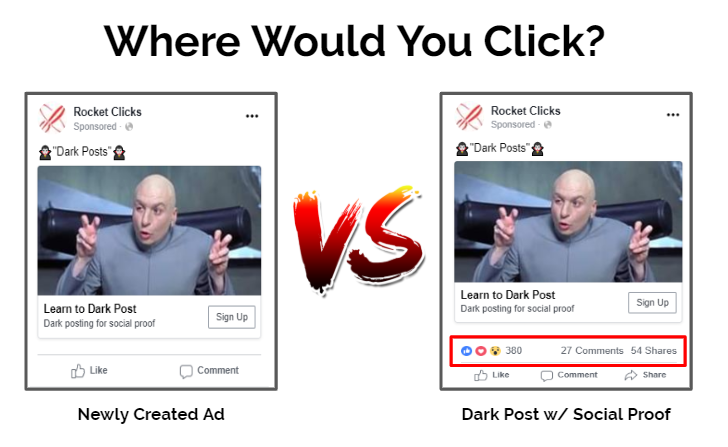 Facebook Dark Posts: Building Social Proof for Paid Advertising